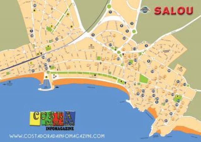 Spanje Landkaart Afdrukbare Plattegronden Van Spanje
