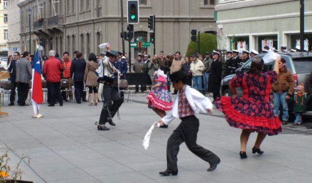 een folkloristisch dansje
